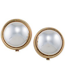Lauren Ralph Gold Tone Sphere Clip On Earrings