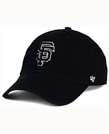 San Francisco Giants Black White Clean Up Cap
