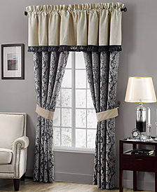"CLOSEOUT! Waterford Sinclair Indigo 21"" x 55"" Tailored Window Valance"