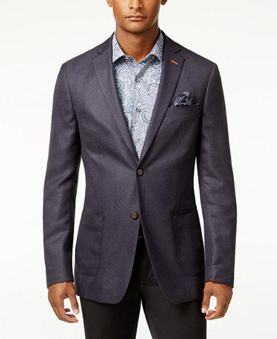 Tallia Men's Slim-Fit Purple Melange Sport Coat