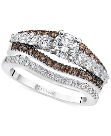 Le Vian® Chocolatier Diamond Bridal Set (1-5/8 ct. t.w.) in 14k White Gold
