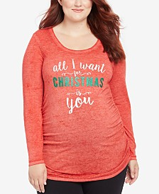 Motherhood Maternity Plus Size All I Want For Christmas Is You™ Maternity Tee
