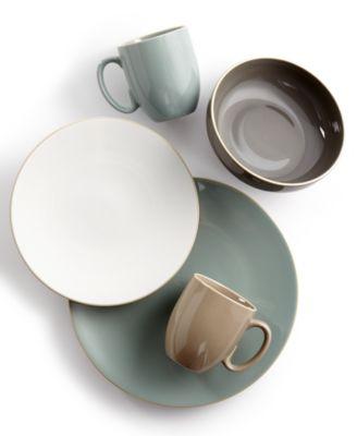Vera Color Gray 16-Piece Dinnerware Set, Service for 4
