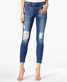 M1858 Kristen Ripped Devon Wash Ankle Skinny Jeans, Created for Macy's