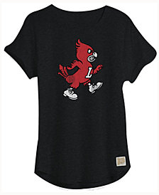 Retro Brand Women's Louisville Cardinals Rolled-Sleeve T-Shirt