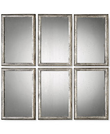 Uttermost Alcona 3-Pc. Antiqued Silver Mirror Set