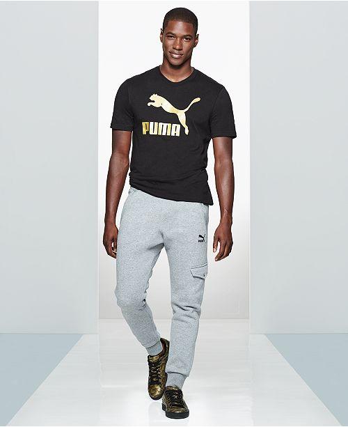 6846a081e68b Puma Men s Graphic T-Shirt   Cargo Joggers   Reviews - Men s Brands ...