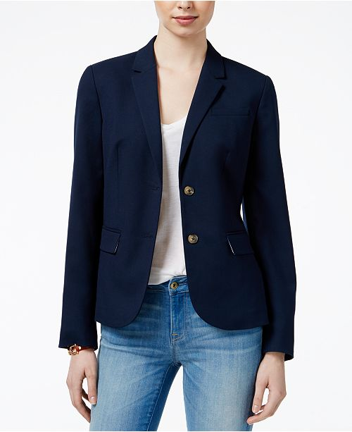 Tommy Hilfiger Two-Button Blazer, Created for Macy's