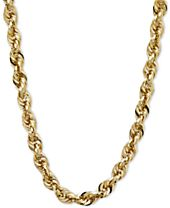 """24"""" Glitter Rope Necklace in 14k Gold"""