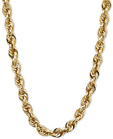 "24"" Glitter Rope Necklace in 14k Gold"