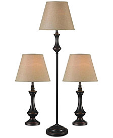 Kenroy Home Genie Lamp 3-Pc. Set: 1 Floor Lamp & 2 Table Lamps