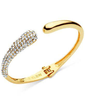 Image of Anne Klein Pavé Hinged Cuff Bracelet, a Macy's Exclusive Style