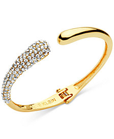 Anne Klein Pavé Hinged Cuff Bracelet, Created for Macy's