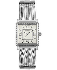 GUESS Women's Stainless Steel Mesh Bracelet Watch 28mm 28MM U0826L1
