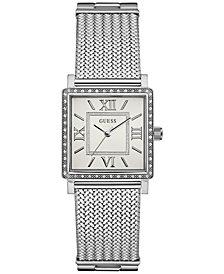 GUESS Women's Stainless Steel Mesh Bracelet Watch 28mm 28MM U0826L1