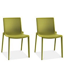 Beekat Set of 2 Indoor/Outdoor Chairs, Quick Ship