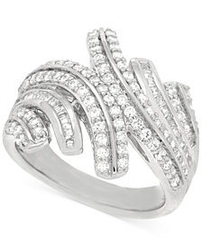 Wrapped in Love™ Diamond Statement Ring (1 ct. t.w.) in Sterling Silver, Created for Macy's