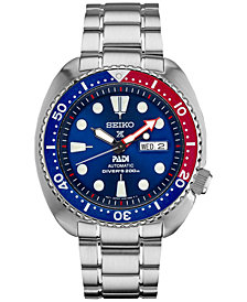 Seiko Men's Automatic Prospex Diver PADI Stainless Steel Bracelet Watch 45mm SRPA21