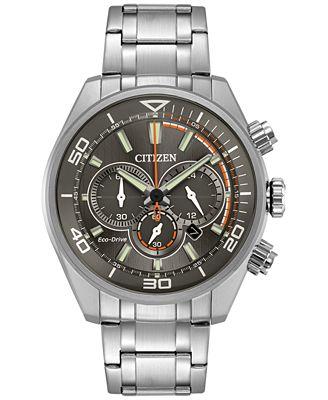 Citizen Eco-Drive Men's Chronograph Titanium Stainless Steel Bracelet Watch 45mm CA4330-57H, A Macy's Exclusive