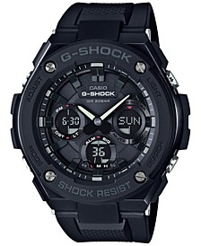 Men's Analog-Digital Black IP with Black Resin Strap G-Steel Watch 51x53mm GSTS100G-1B