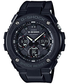 G-Shock Men's Analog-Digital Black IP with Black Resin Strap G-Steel Watch 51x53mm GSTS100G-1B