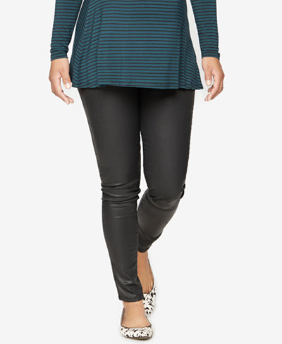 DL 1961 Maternity Coated Skinny Jeans