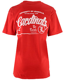 Pressbox Women's Louisville Cardinals Elly May Big V-Neck T-Shirt