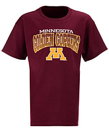 J America Kids'  Minnesota Golden Gophers Bridge T-Shirt, Big Boys (8-20)
