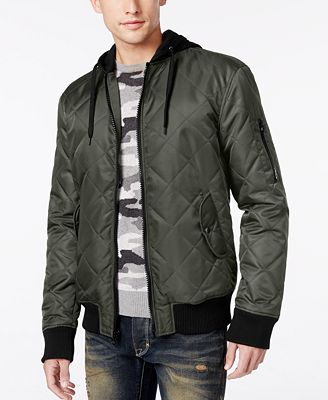 American Rag Men's Quilted Hooded Bomber Jacket, Only at Macy's ...