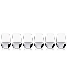 O Collection Riesling/Zinfandel Stemless Wine Glasses 6 Piece Value Set
