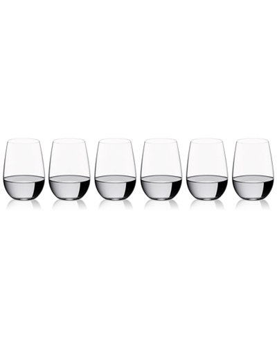 Riedel O Collection Riesling/Zinfandel Stemless Wine Glasses 6 Piece Value Set