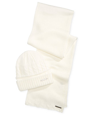 Men's Multi Knit Marled Cuffed Beanie,And Scarf Set, Created For Macy's by Sean John
