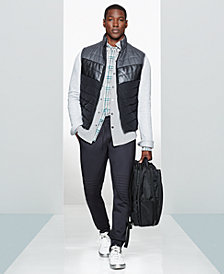 Kenneth Cole Men's Puffer Vest, Quilted Shirt Jacket, Plaid Shirt & Scuba Joggers