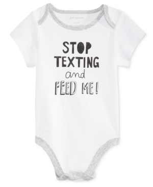First Impressions Stop Texting Bodysuit Baby Boys  Baby Girls (024 months) Created for Macys