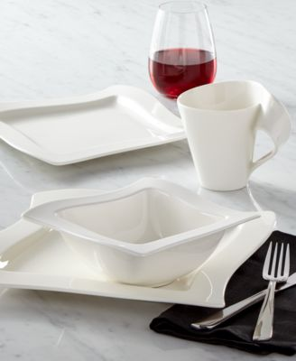 Explore new shapes for your table with innovative New Wave dinnerware sets. Unique fluid serveware and plates in premium Villeroy u0026 Boch porcelain work ... & Villeroy u0026 Boch Dinnerware New Wave Sets Collection - Dinnerware ...