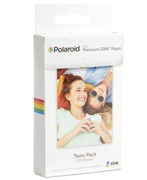 Polaroid 2x3 Premium Zink Paper Twin Pack Pack Of 20 In White