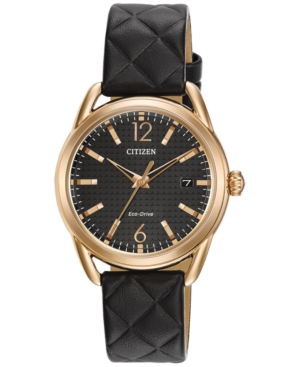 Citizen Drive from Citizen Eco-Drive Women's Black Quilted L