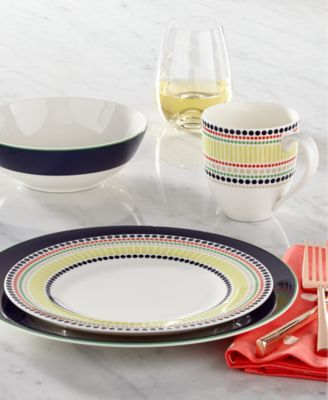 Marvelous Kate Spade New York Dinnerware, Hopscotch Drive Navy Collection