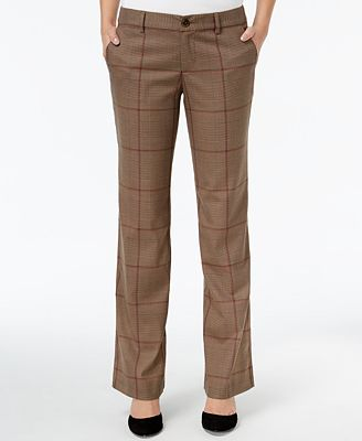 Tommy Hilfiger Glen Plaid Pants, Only at Macy's - Pants - Women ...
