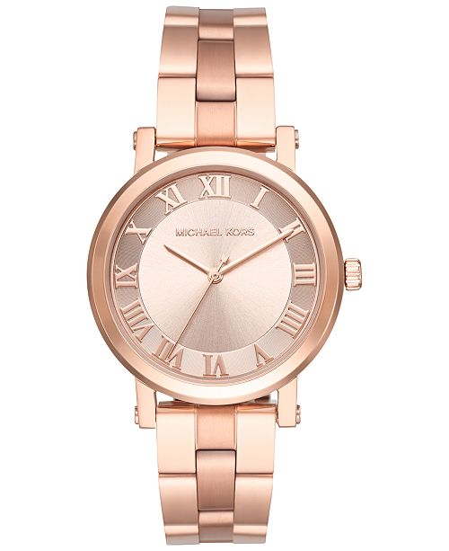 5c26cacda546 ... Michael Kors Women s Norie Rose Gold-Tone Stainless Steel Bracelet Watch  38mm MK3561 ...