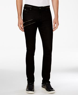 GUESS Men's Zipper Skinny Jeans - Jeans - Men - Macy's
