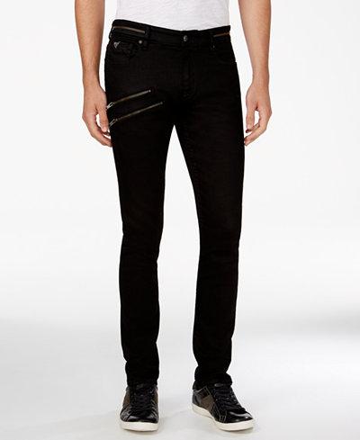 GUESS Men's Zipper Skinny Jeans - Jeans - Men - Macy's