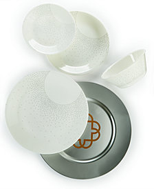 Market Street New York by Corelle Winter Solstice 5-Piece Round Place Setting