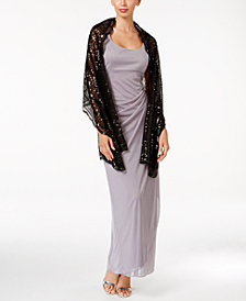 BLUE BY BETSEY  JOHNSON Sequined Scallops Evening Wrap