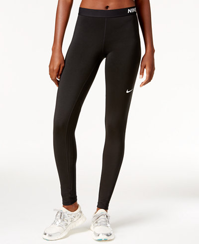 nike pro warm dri fit leggings pants women macy 39 s. Black Bedroom Furniture Sets. Home Design Ideas