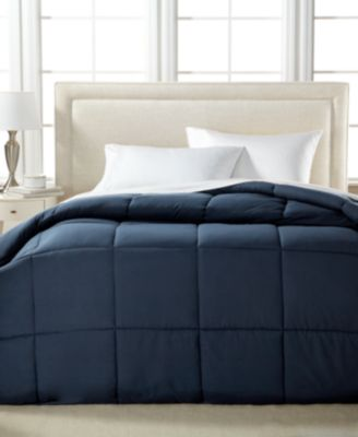 Microfiber Down Alternative Comforter (King) Navy