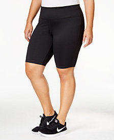 Ideology Plus Size Compression Shorts, Created for Macy's