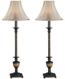 Kenroy Home Emily Buffet 2-Pc. Table Lamp Set