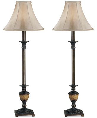Kenroy Home Emily Buffet 2-Pc. Table Lamp Set