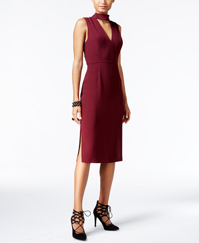 BCBGeneration Cutout Midi Sheath Dress